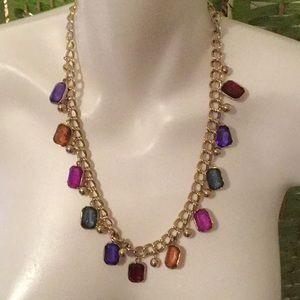 💃Gorgeous Estate Chunky Multi Stone Fun Necklace